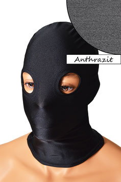 Kopfhaube (Maske) anthrazit, mit Löchern für Augen