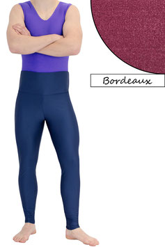 Herren Leggings High-Waist bordeaux