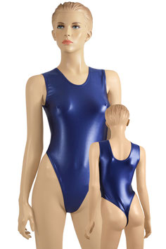 Damen Wetlook Stringbody ohne Ärmel marine