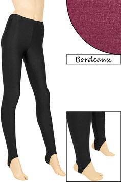 Kinder Leggings mit Steg bordeaux