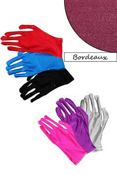 Kurze Handschuhe bordeaux