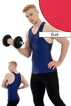 Herren Boxerhemd Slim Fit rot