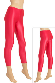 Damen Wetlook Leggings rot