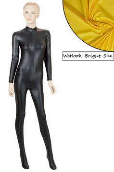 Damen Wetlook Ganzanzug FRV+SRV+Fuß bright-sun