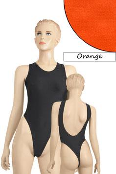 Damen Stringbody tiefer Rückenausschnitt Orange
