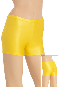 Damen Wetlook Hotpant bright sun