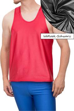 Herren Wetlook Boxerhemd Comfort Fit schwarz