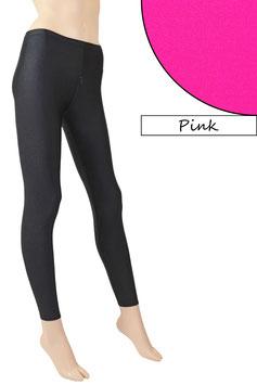 Damen Leggings mit Schritt-RV pink