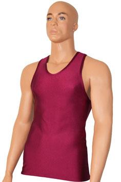 Herren Boxerhemd Slim Fit bordeaux