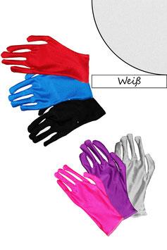 Kurze Handschuhe weiß