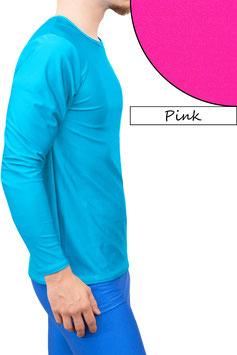 Herren Longsleeve T-Shirt Comfort Fit pink