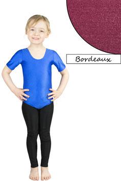 Kinder Gymnastikanzug kurze Ärmel bordeaux