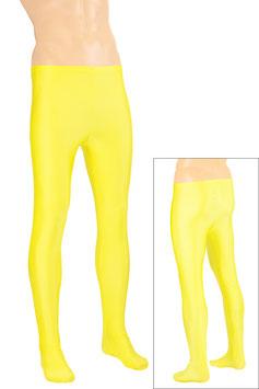 Herren Leggings mit Fuss gelb