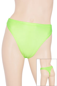 Damen Wetlook String-Slip neongrün