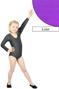 Kinder Gymnastikanzug lange Ärmel lila