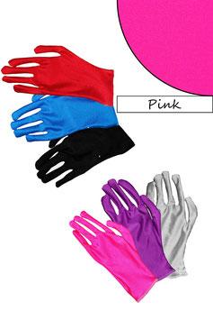 Kurze Handschuhe pink