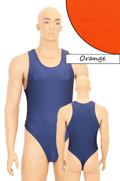 Herren Stringbody Boxerschnitt orange