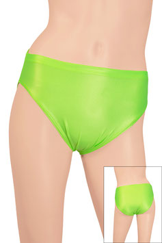 Damen Wetlook Slip neongrün