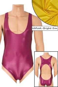 Herren Wetlook Body Boxerschnitt und freier Rücken bright-sun