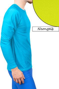 Herren Longsleeve T-Shirt Comfort Fit neongelb