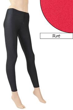 Damen Leggings mit Schritt-RV rot