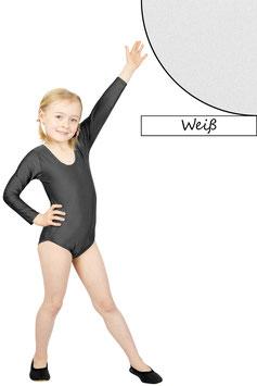Kinder Gymnastikanzug lange Ärmel weiß