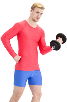 Herren Longsleeve T-Shirt Slim-Fit rot