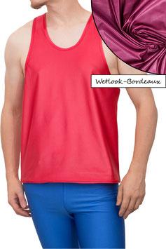 Herren Wetlook Boxerhemd Comfort Fit bordeaux
