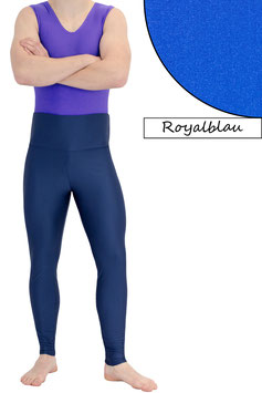 Herren Leggings High-Waist royalblau