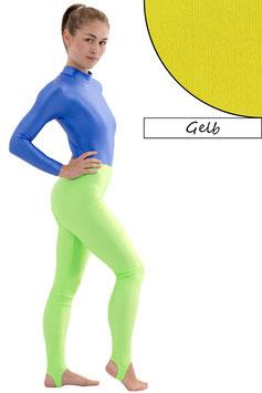 Damen Leggings mit Steg gelb