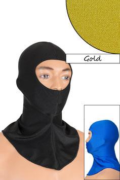 Sturmhaube Augen+Nase offen gold