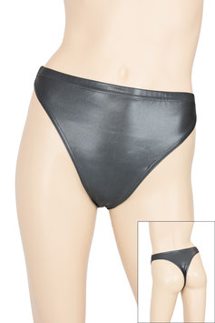 Damen Wetlook String-Slip anthrazit