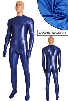 Herren Wetlook Ganzanzug RRV+SRV+Hände+Füße royalblau