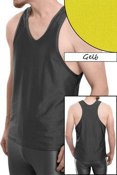 Herren Boxerhemd Comfort Fit gelb