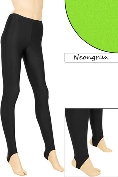 Kinder Leggings mit Steg neongrün