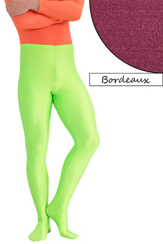 Herren Leggings mit Fuss bordeaux
