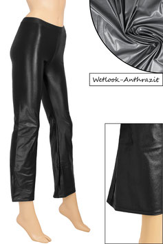 Damen Wetlook Jazzpant anthrazit