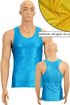 Herren Wetlook Boxerhemd Slim Fit bright-sun