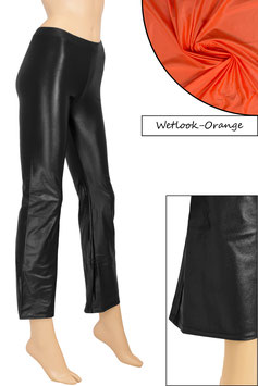 Damen Wetlook Jazzpant orange