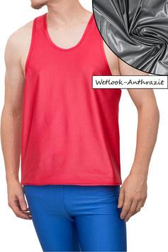 Herren Wetlook Boxerhemd Comfort Fit anthrazit