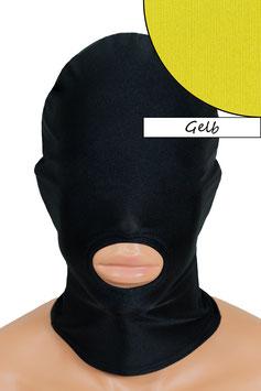 Kopfhaube (Maske) gelb, Mund offen