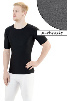 Herren T-Shirt Slim Fit anthrazit