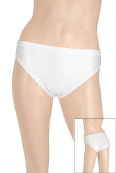 Damen Wetlook Slip weiß