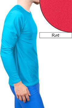 Herren Longsleeve T-Shirt Comfort Fit rot