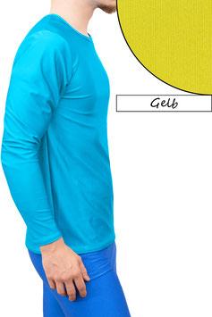 Herren Longsleeve T-Shirt Comfort Fit gelb