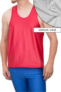 Herren Wetlook Boxerhemd Comfort Fit weiß