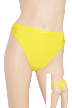 Damen String-Slip gelb