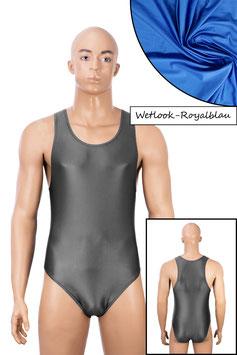 Herren Wetlook Body Boxerschnitt royalblau