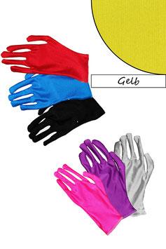 Kurze Handschuhe gelb