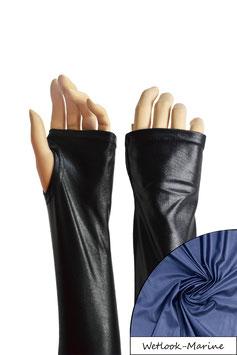 Wetlook fingerlose Handschuhe mit Daumenloch marine